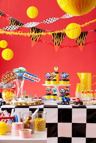 Decoración fiesta de cumpleaños de Blaze y los Monster Machines
