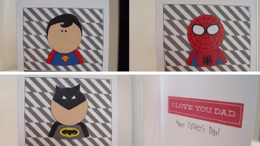 Haz una Tarjeta para el Día del Padre de Superhéroes DIY
