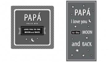Tarjeta para el Día del Padre y marcapáginas a juego, para imprimir