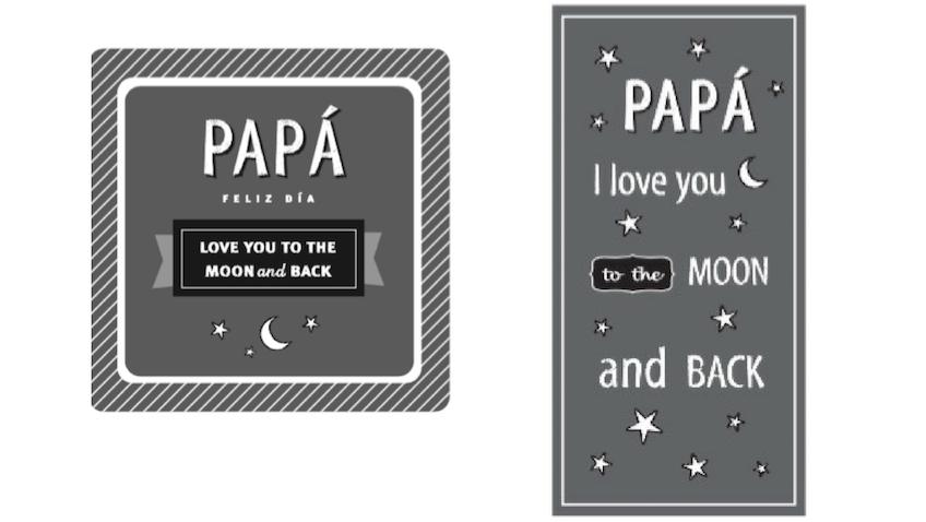 Tarjeta para el Dia del Padre y marcapaginas para imprimir