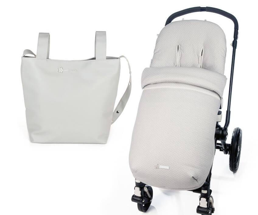Bolso panadera y saco para silla de paseo de Pasito a Pasito