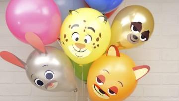 Haz globos caseros para un fiesta de Zootrópolis