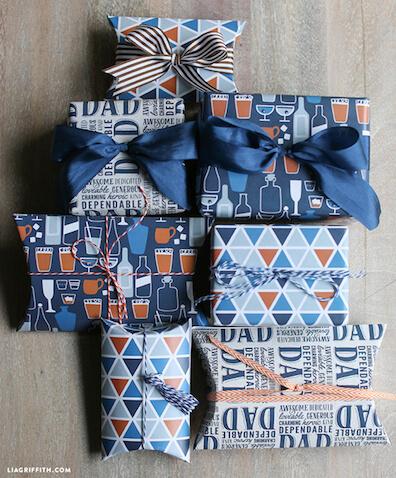Papel de regalo para imprimir para el Día del Padre