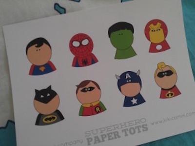Superhéroes para imprimir gratis
