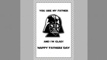 Tarjeta día del Padre de Darth Vader y más para los papás fans de Star Wars