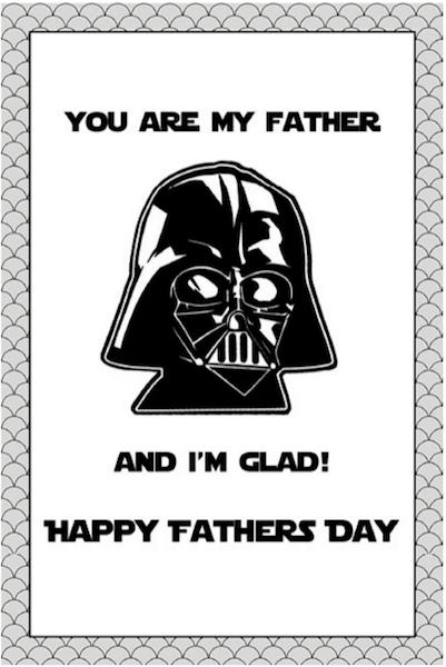 tarjeta dia del padre darth vader para imprimir gratis