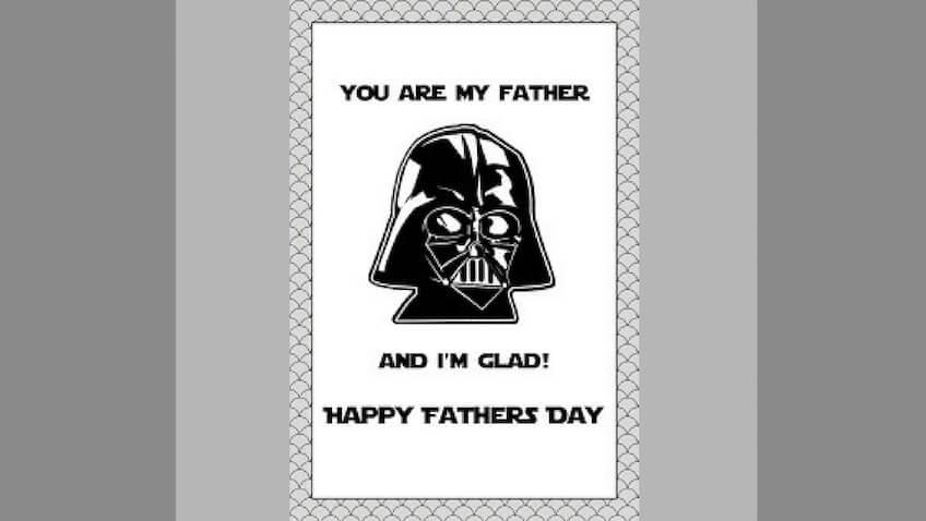 tarjeta dia del padre darth vader para imprimir