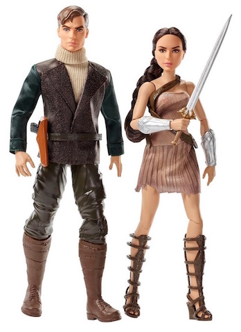 Muñecos Steve Trevor y Diana Wonder Woman