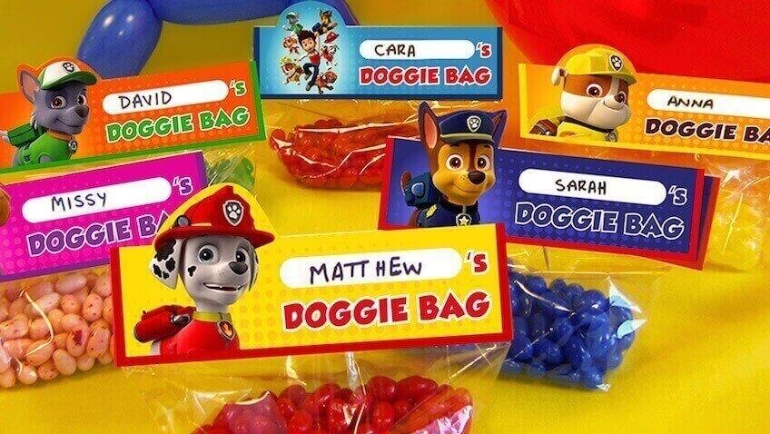 bolsas de la patrulla canina para imprimir
