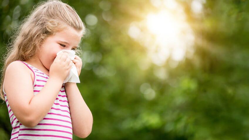 como detectar alergias en niños