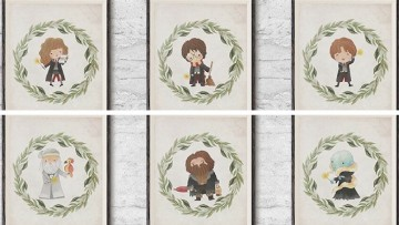 Láminas decorativas de Harry Potter para imprimir