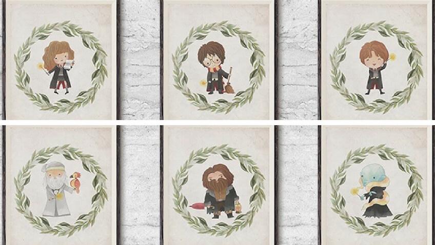 decoración habitación con láminas decorativas de Harry Potter para imprimir
