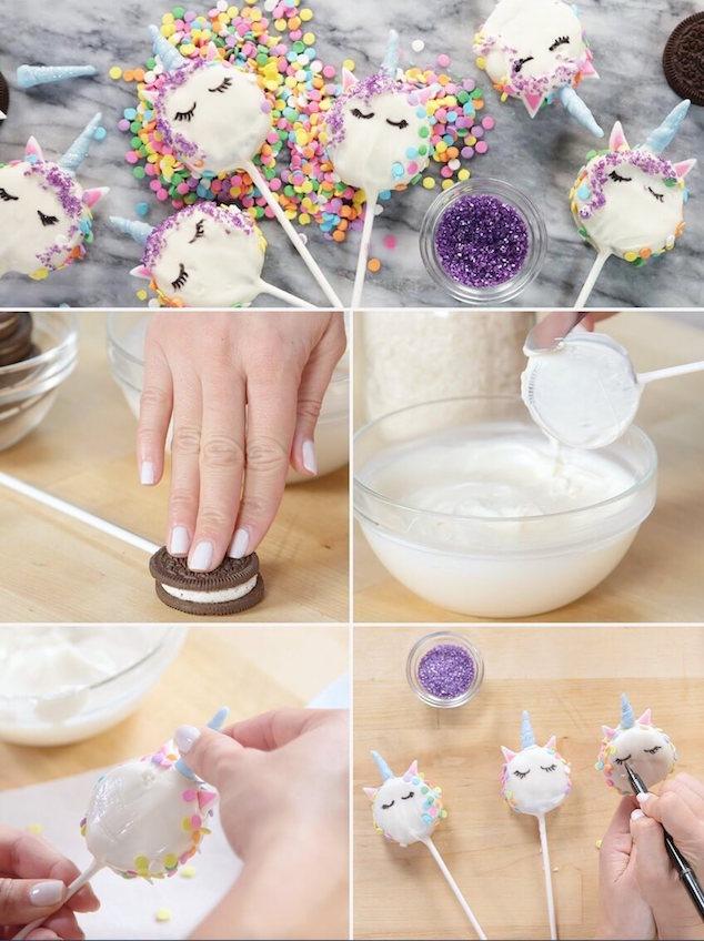 como hacer Popcakes de unicornios