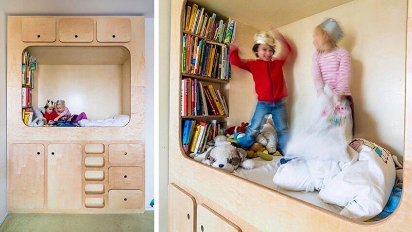 Ideas para fomentar la lectura en niñ@s mueble con cama