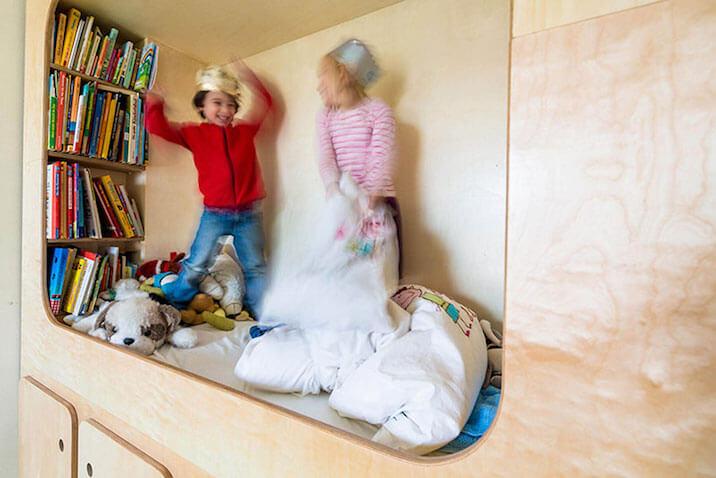 Espacio para niños jugar y leer