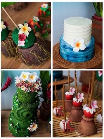 ideas de decoración fiesta de Vaiana