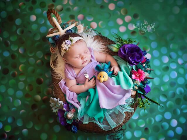 fotos bebés recién nacidos ariel de la Sirenita