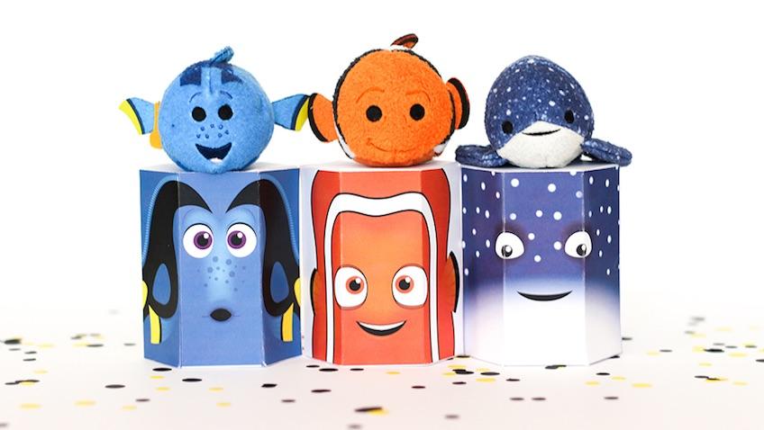 Cajas de chuches de Dory para celebrar un cumpleaños infantil con los personajes