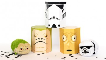Cajas de chuches de Star Wars para fiestas de la Guerra de las Galaxias