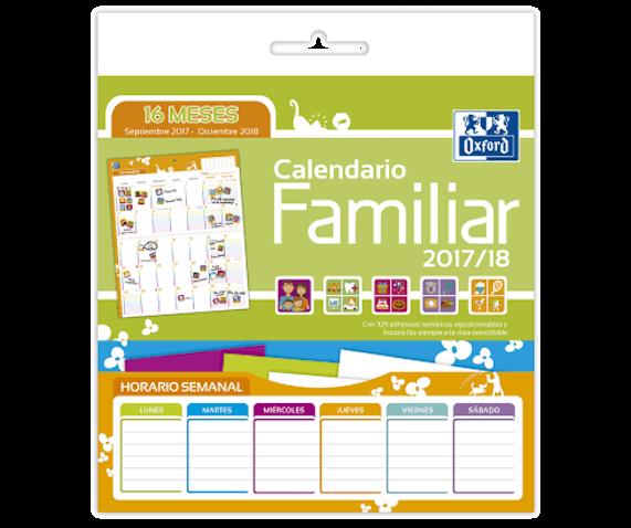 Calendario Familiar para retomar la rutina de la Vuelta al Cole