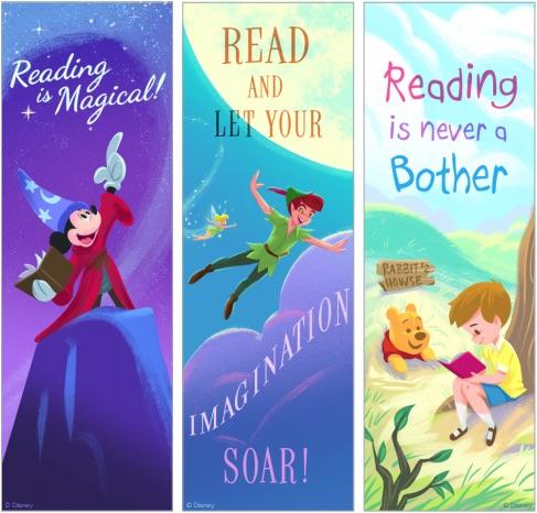 Más marcapáginas para imprimir gratis de Disney Mickey, Peter Pan y Winnie The Pooh