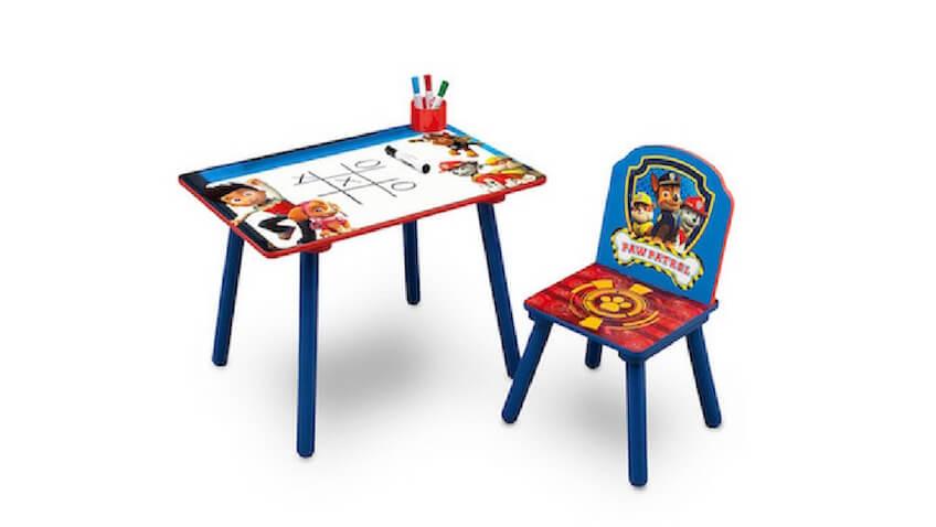 Mesa y silla infantil de la Patrulla Canina para niños
