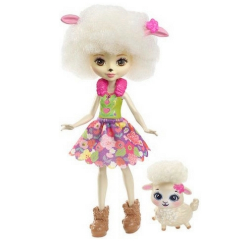 Lorna Lamba y su ovejita Flag muñeca Enchantimal de Mattel