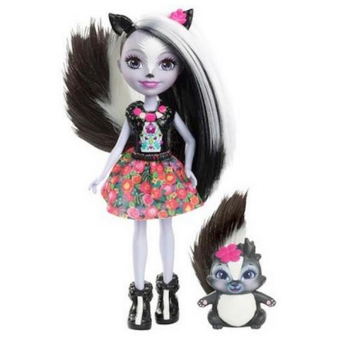 Sage Sunk y su mascota Caper muñeca Enchantimals de Mattel