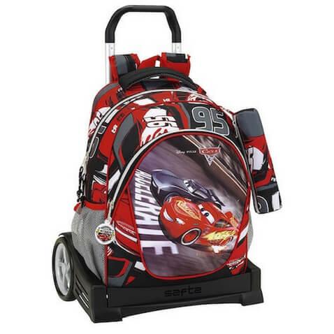 Mochila con ruedas de Cars 3 con Rayo y Jackson Storm rebajada