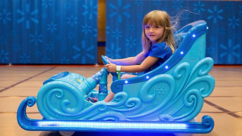 Trineo de disney frozen eléctrico 12V color azul claro