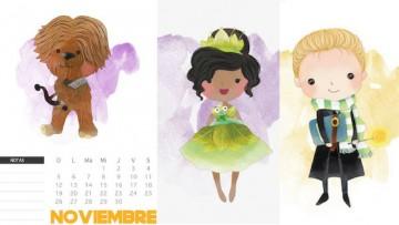 3 calendarios de noviembre para imprimir a tus hij@s