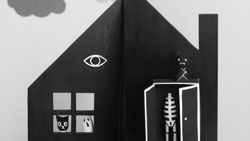como hacer una casa embrujada para halloween con plantilla y tutorial