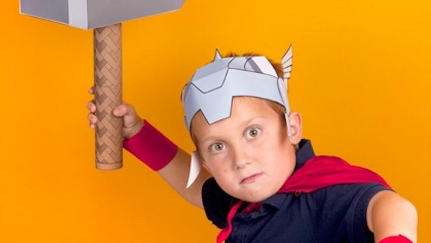 disfraz de thor casero para niños DIY