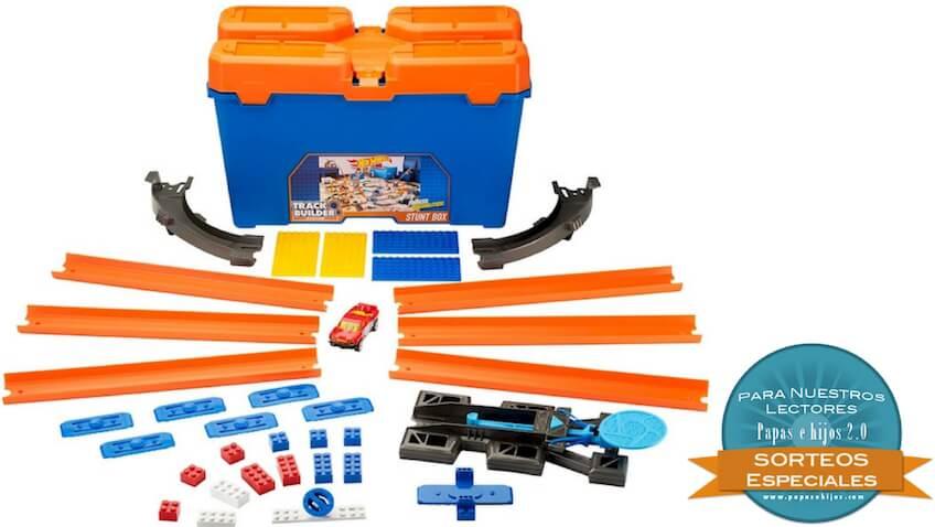 sorteo de un set de acrobacia para coches de juguetes hot wheels