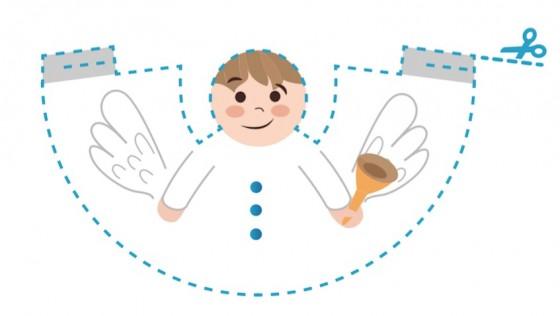 Haz un ángel de Navidad con tus hij@s