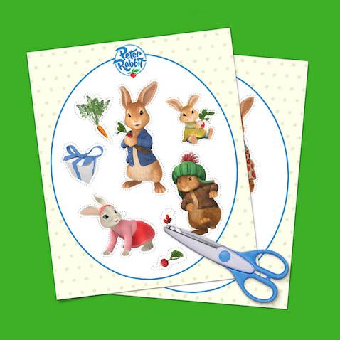 Pegatinas de Peter Rabbit para imprimir gratis
