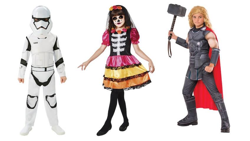 los mejores disfraces infantiles para Carnaval stormtrooper catrina y thor