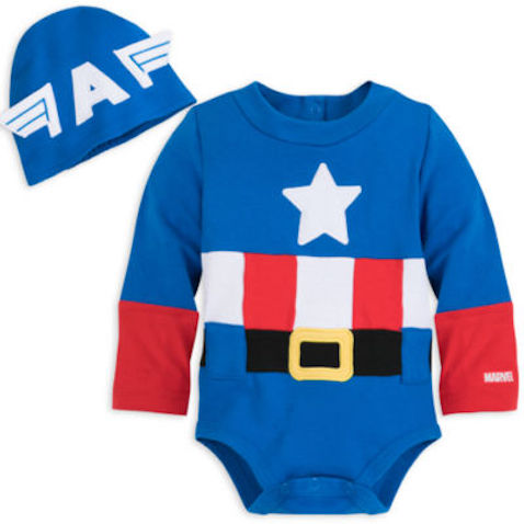 Disfraz de Capitán América para bebés desde 0 a 18 meses