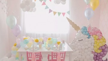 Muchas ideas para una fiesta de cumpleaños de unicornios