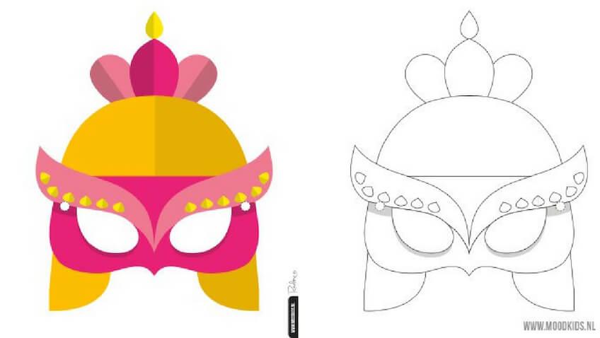 Máscaras para Carnaval de Doncella para niñas