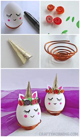 Cómo decorar huevos de pascua unicornios paso a paso
