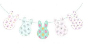 Guirnalda de Conejitos de Pascua para imprimir