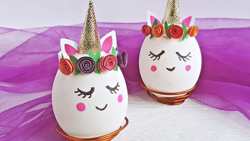 como decorar huevos de pascua de unicornios tutorial paso a paso