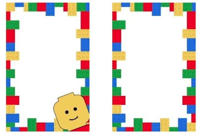 Invitación de Lego para imprimir gratis