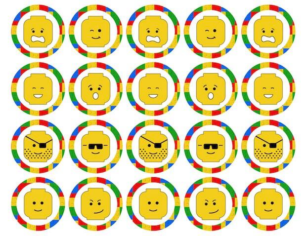 Cupcake toppers de Lego para imprimir gratis