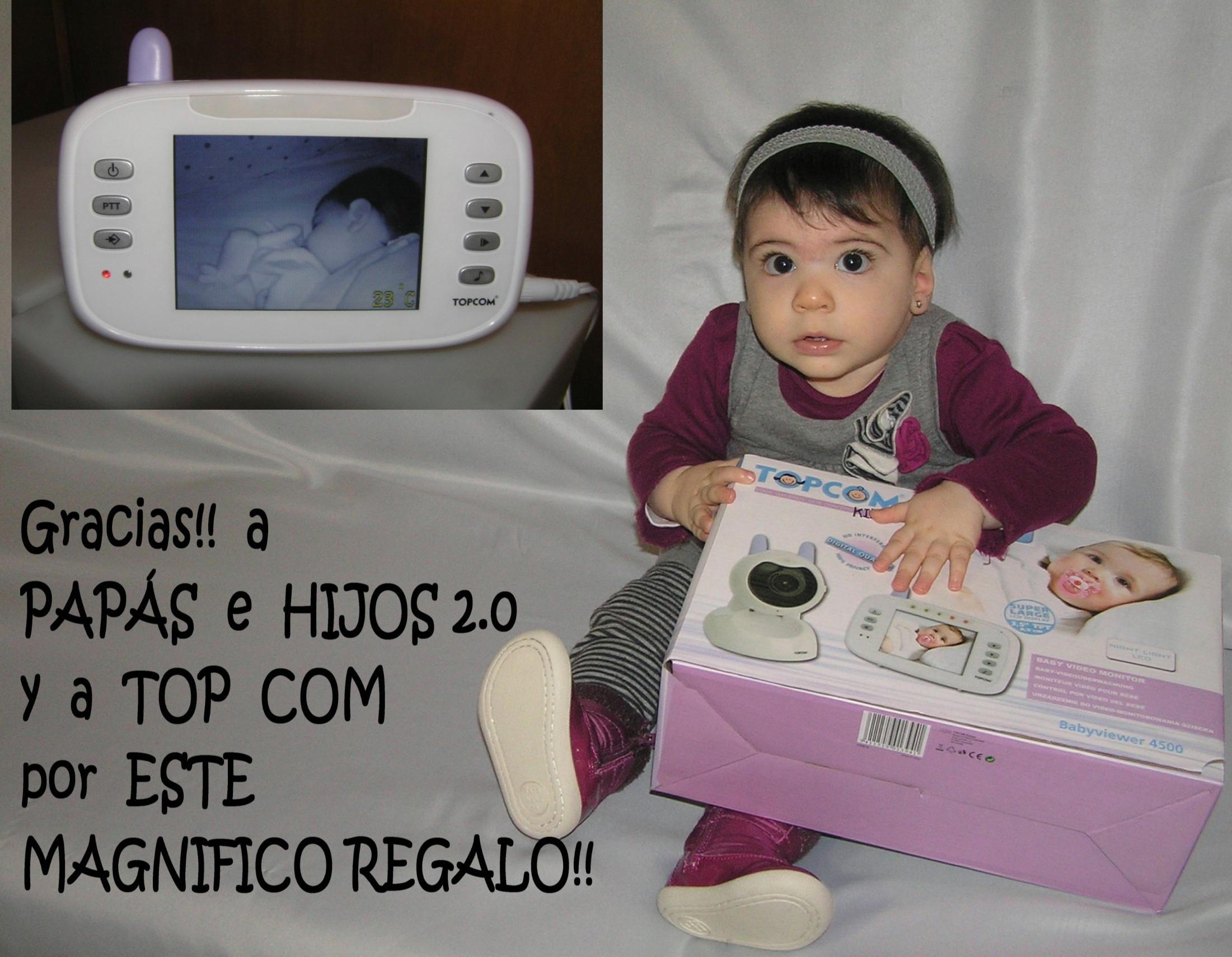 Leyre feliz con su Topcom BabyViewer 4500