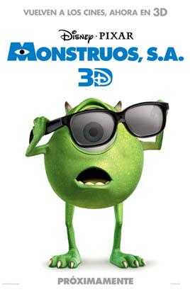 Monstruos SA en 3D