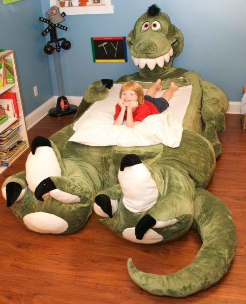 cama infantil original en forma de dragón de peluche