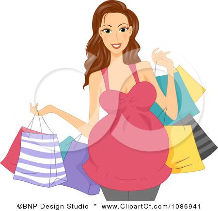 Mamá embarazada de compras