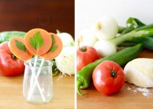 Piruletas de gazpacho